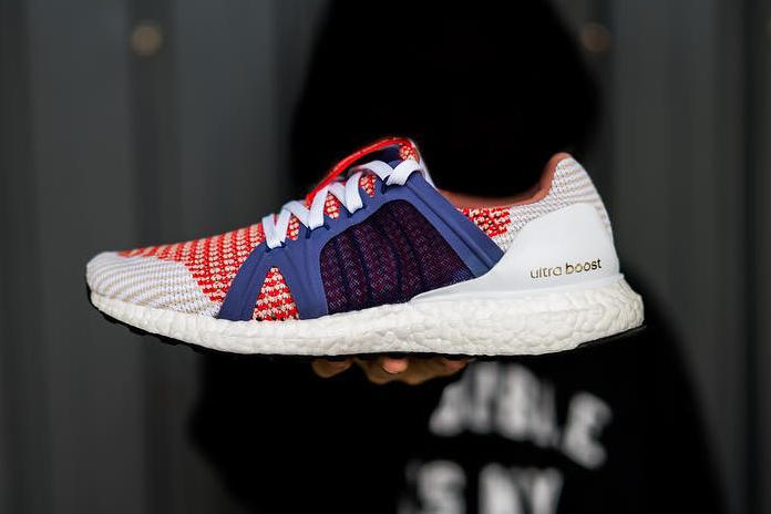 adidas Ultra Boost Instagram red white upper blue mesh cage
