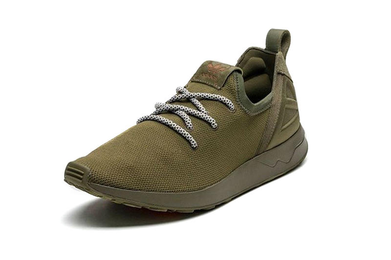 adidas Originals ZX Flux ADV X Sneaker Olive Green checkered lacing 4686d9677c2f3