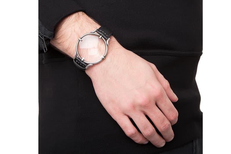 Ann Demeulemeester BLACK LOUPE BRACELET leather sterling silver