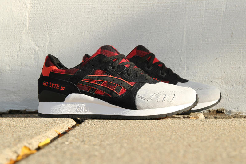 5df1f8f84557 ASICS Brings Buffalo Plaid Flannel to the GEL-Lyte III. Retro runners ...