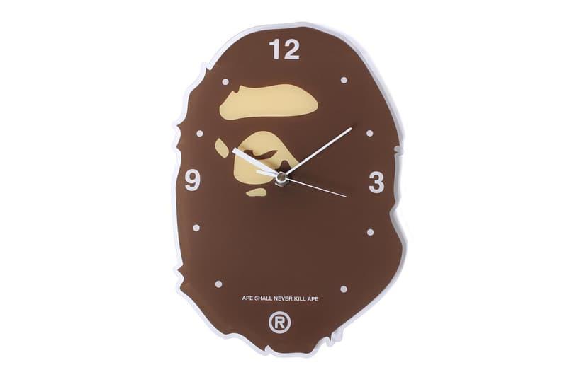 BAPE Ape Head Wall Clock home decor ape head camo baby milo