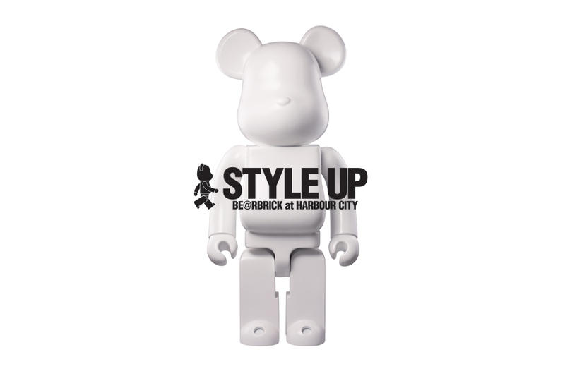 "Bearbrick ""Style Up"" Group Exhibition white bear"