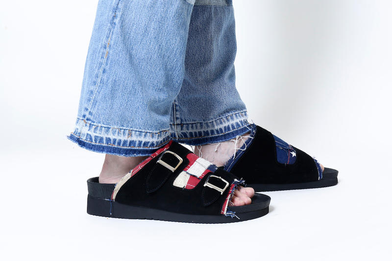 BONUM x mythography Denim Footwear Collection Sneakers Patchwork Indigo Blue