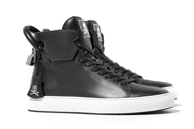 The new mastermind Japan x Buscemi Sneaker black leather high-top japan culture 2016 fall winter skull and crossbones