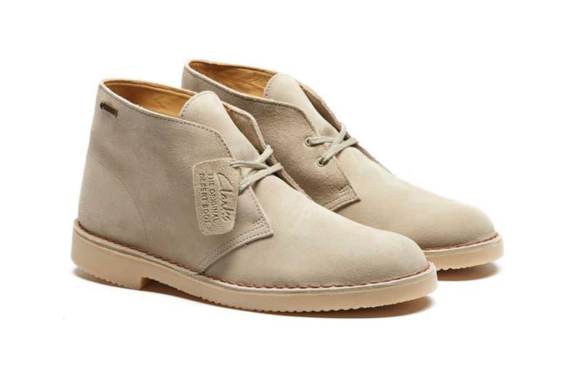 a33ee6aeca6696 Clarks Originals Desert Boot GORE-TEX Sand Suede