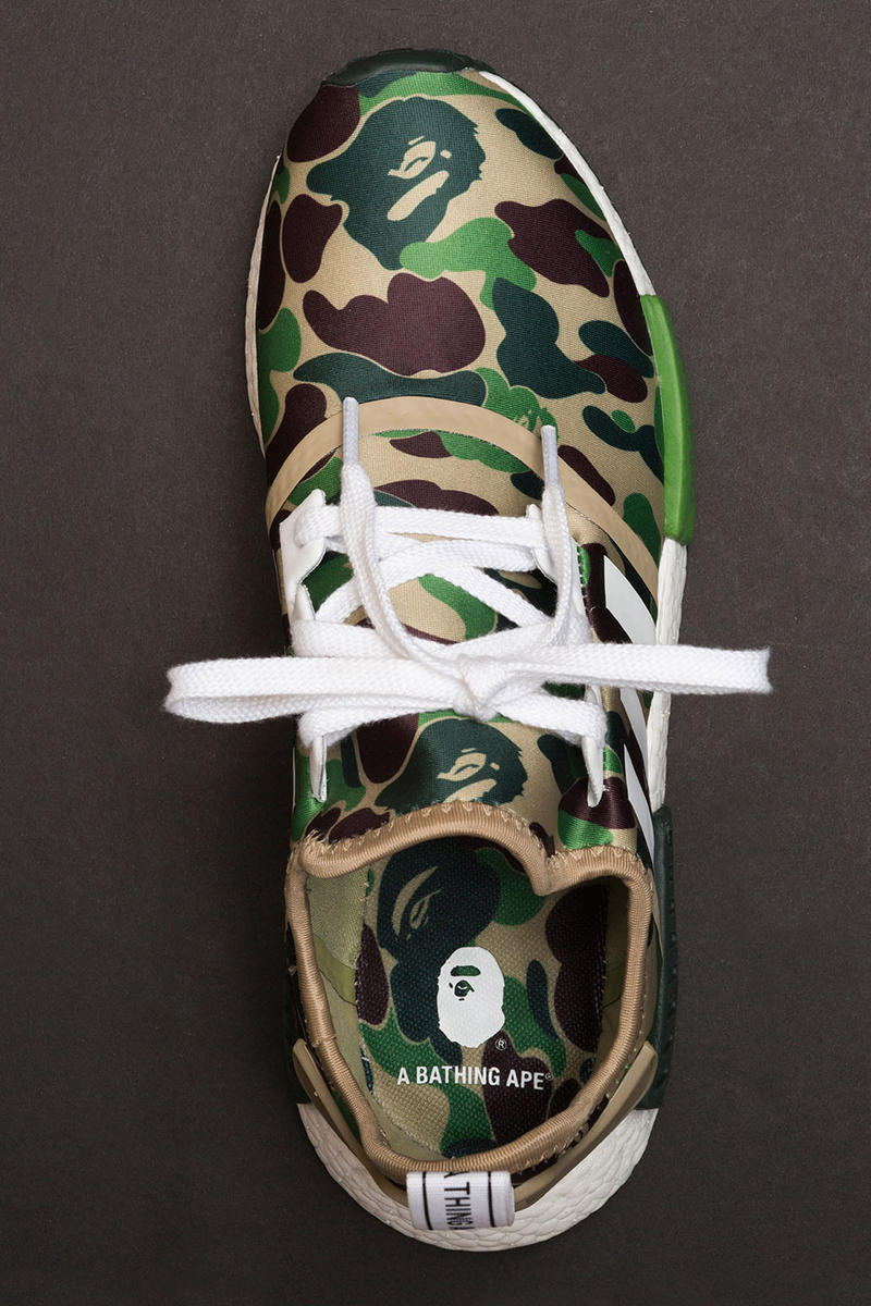 the best attitude 4a4e1 df908 A Closer Look at the A Bathing Ape x adidas NMD ...