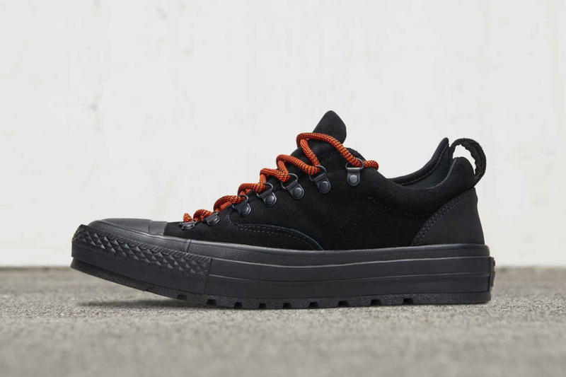 61335dbd37370f Converse Revels the Chuck Taylor All Star Descent Low black suede Eva sole  rugged