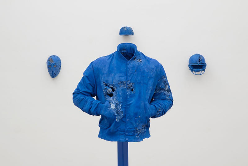 Daniel Arsham Circa 2345 purple blue exhibition