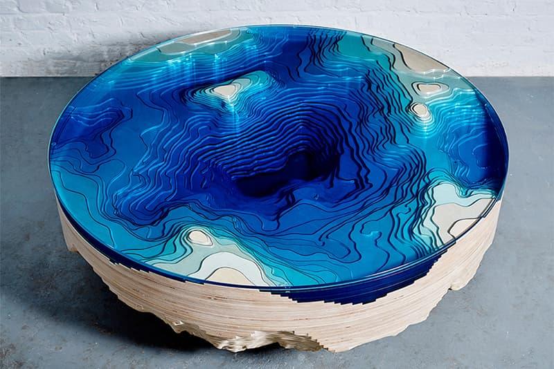 duffy london Ocean Cross Section Table blue