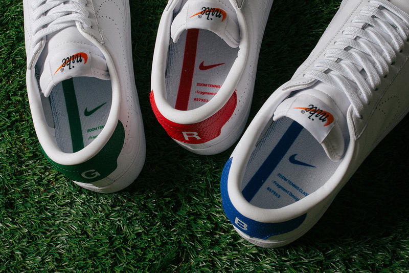 fragment design Nikelab Tennis Classic AC RGB Sneaker Pack white shoes