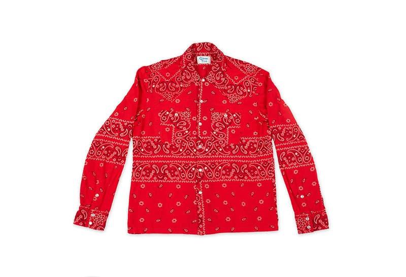 Gimme 5 Cut Sew Bandana Shirt elephant print navy black red