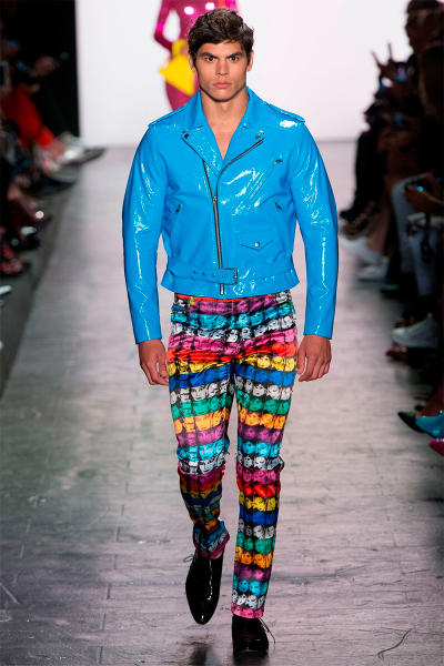 Jeremy Scott 2017 SS Collection New York Fashion Week latex sex inspired neon-infused looks