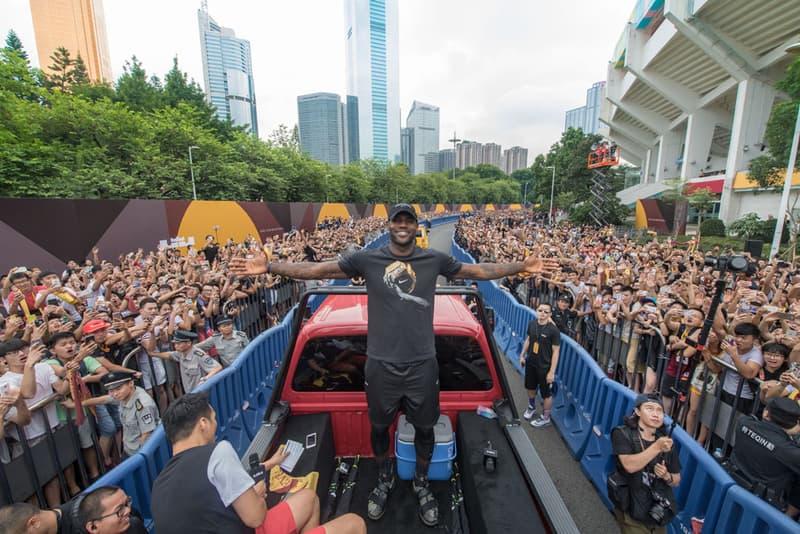 LeBron James China Nike Summer Tour guangzhou beijing