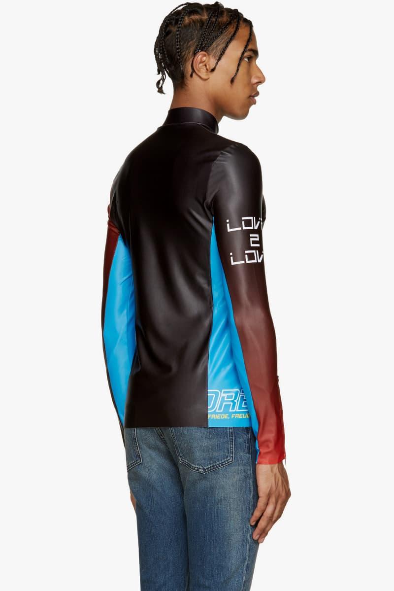Maison Margiela Racecar Pullover jersey raw hems long sleeve color blocked