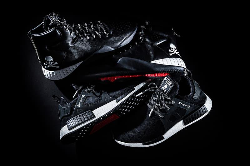 online store a61a9 2c33c mastermind JAPAN x adidas Originals nmd xr1 tubular instinct black white  red skull bones