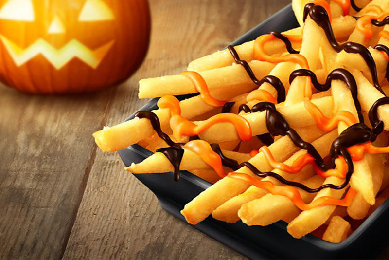 McDonalds Japan Halloween Chocolate Pumpkin French Fries