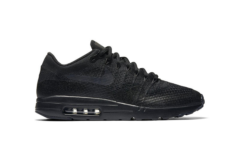 finest selection 4b4e5 53ee2 Nike Air Max 1 Ultra Flyknit Triple Black