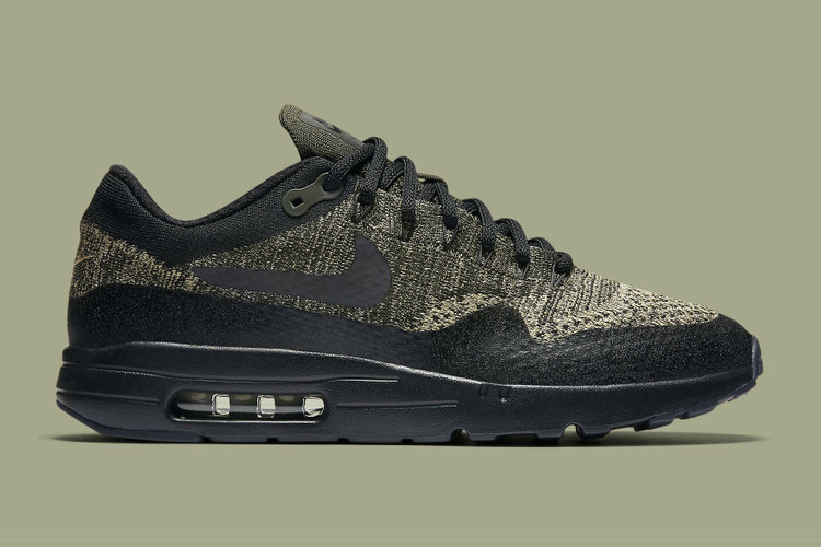 hot sale online 1525a b2d05 The Nike Air Max 1 Ultra Flyknit Gets the Olive Treatment