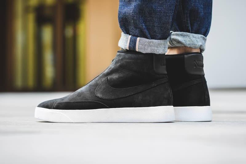 quality design 6318e 644ce Nike Blazer Advanced laceless black white