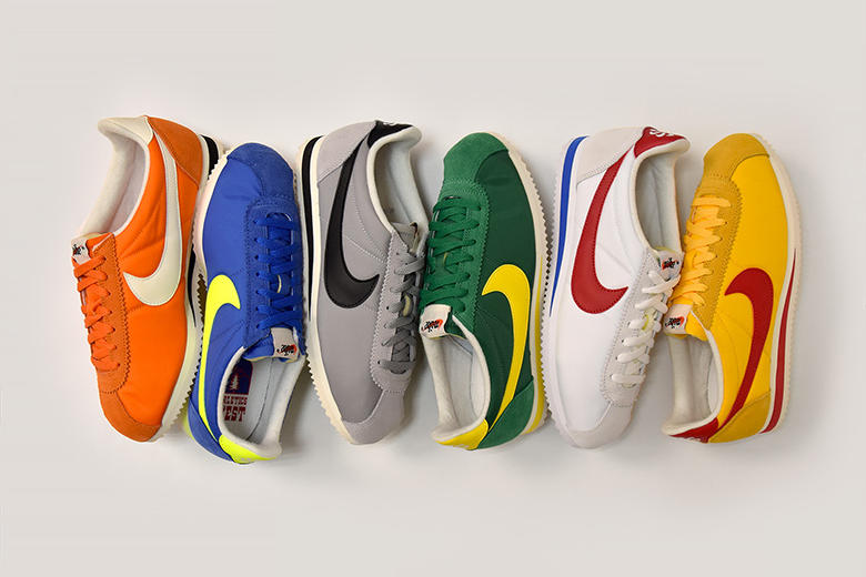 Nike Cortez Athletics West Pack white green orange blue yellow grey