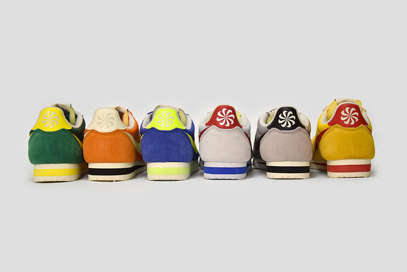 Nike Cortez Athletics West Pack white green orange blue yellow grey