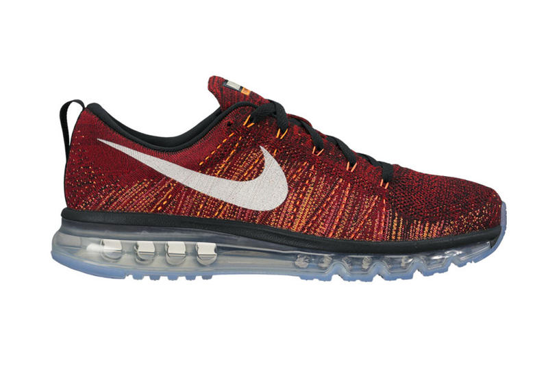 fd375b766cc1 Nike Flyknit Air Max 2016 Fall burgundy orange