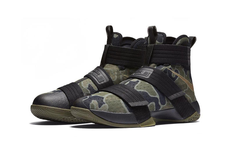 quality design a9788 11b88 Nike LeBron Soldier 10 Olive Camo. 1 of 2