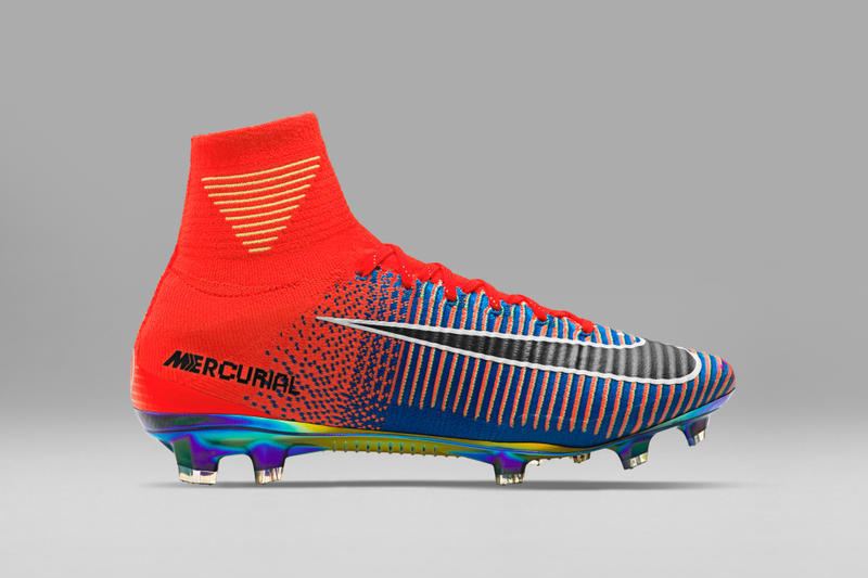 Nike's Mercurial Superfly x EA Sports Football Cleats are a Pixilated Dream soccer field sport FIFA