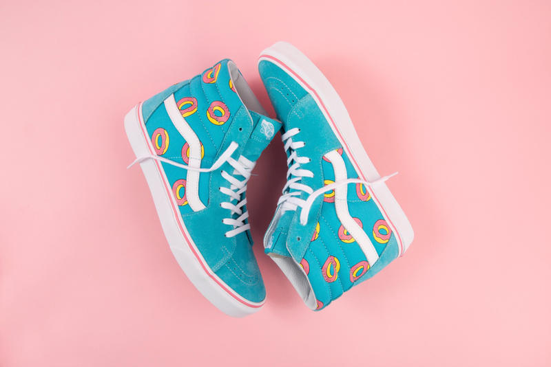 d6c703bd5845 Odd Future x Vans Exclusive Donut Print Footwear sneakers Sk8-Hi Authentic  Slip ons Tyler