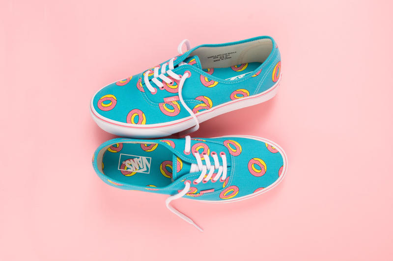 Odd Future x Vans Exclusive Donut Print Footwear sneakers Sk8-Hi Authentic Slip ons Tyler the Creator Golf Wang