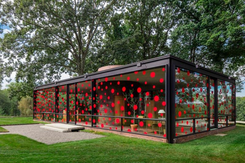 Philip Johnson Glass House Yayoi Kusama Polka Dots