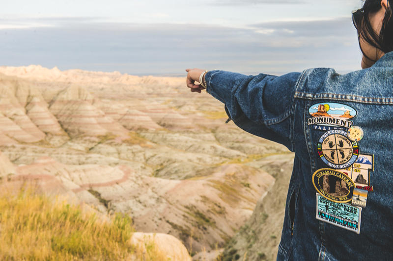 PINTRILL Levi's Cadillac Roadtrip pins jean jackets