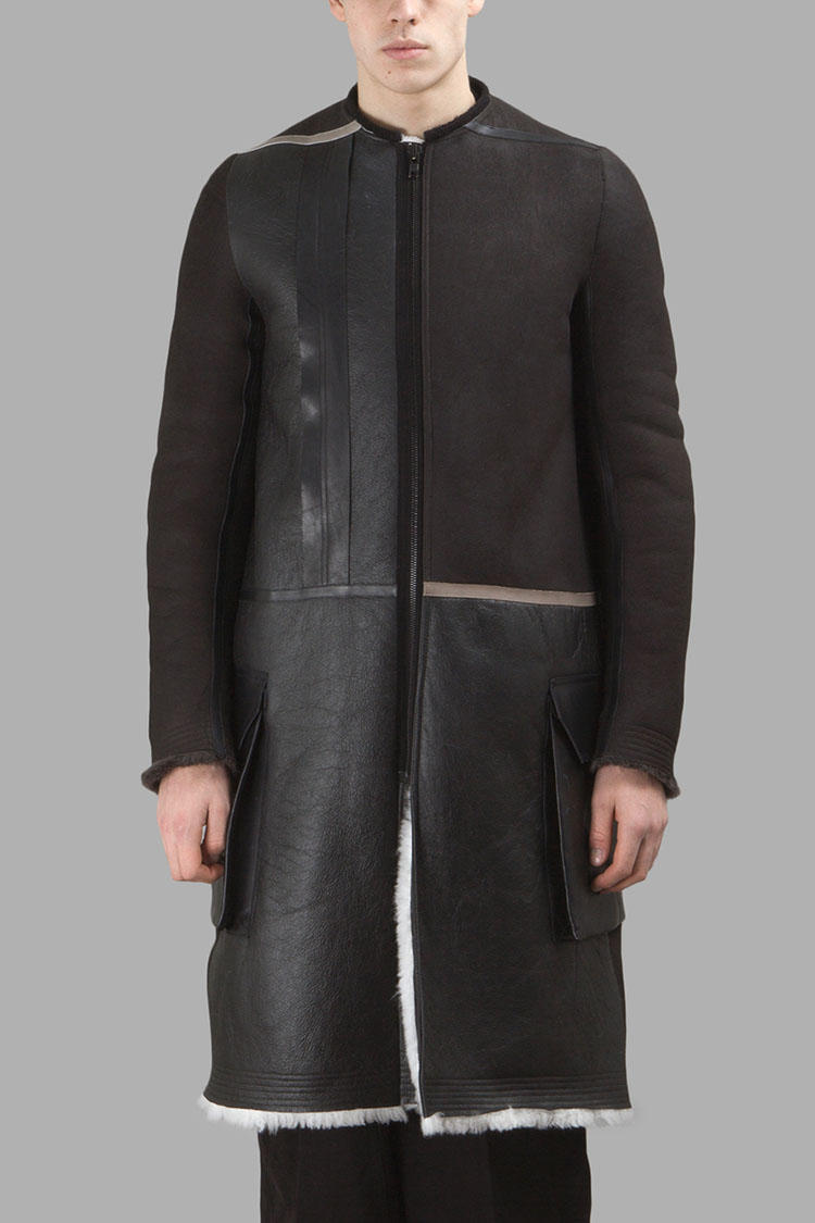 Rick Owens Fall Winter 2016 Parka Leather Jacket Outerwear