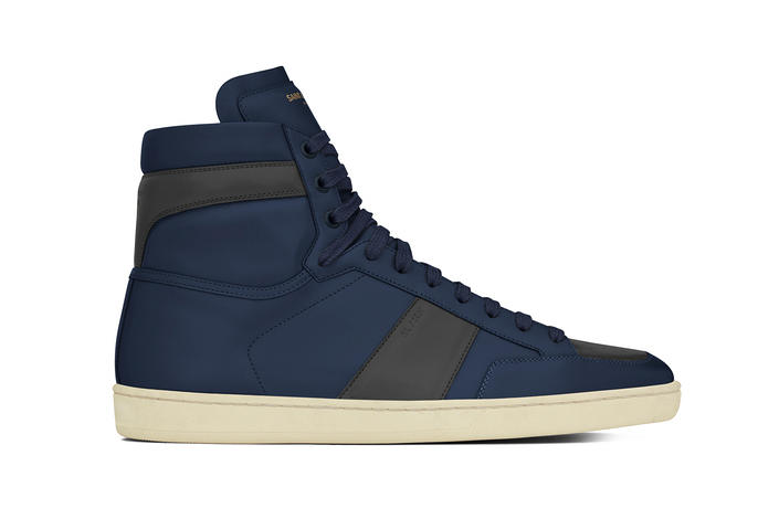 3d9adad746230 Saint Laurent Signature Court Classic High Top Leather white black indigo  red SL10H suede