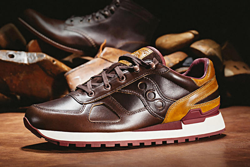 Saucony x Wolverine Classic Shadow Original Horween Leather