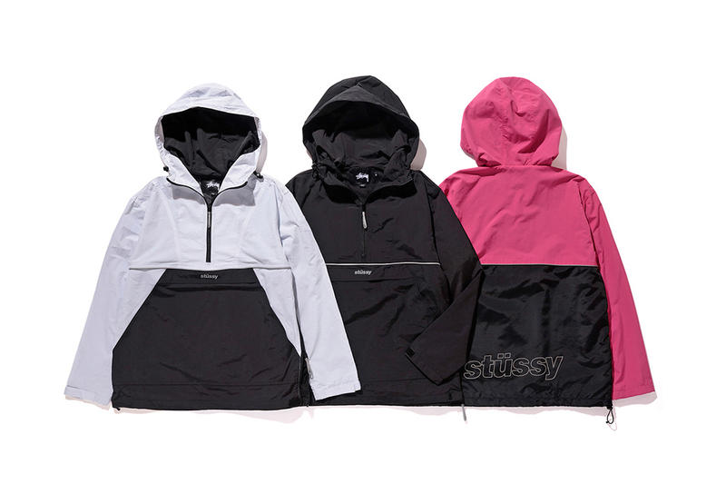 Stussy Fall Winter 2016 Collection Anorak pink black white