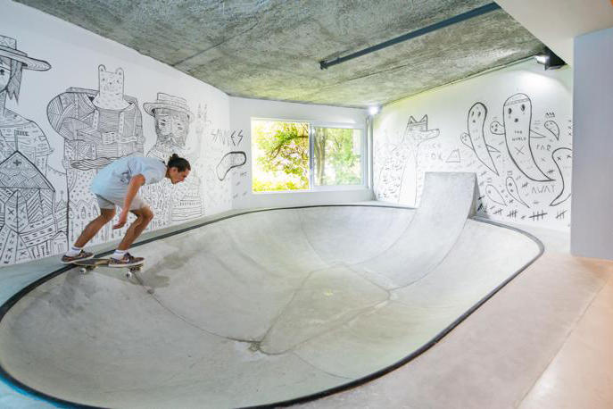 Teen Man Cave Skateboarder