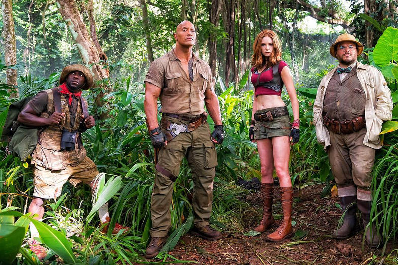 The Rock and Kevin Hart Share First Photo of 'Jumanji' Reboot robin williams jack black jungle board game films