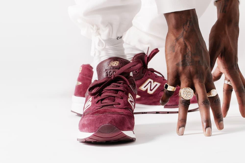 UBIQ New Balance 1600 English Crown Burgundy Gold Sneakers A$AP Nast