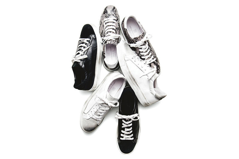 """uniform experiment x Amb """"Damaged Sneakers"""" 2016 Fall/Winter black grey snake white"""