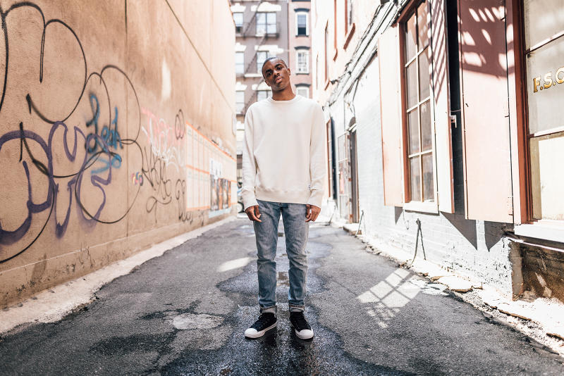 vince staples converse essentials hoodie crewneck zip up nyc lookbook