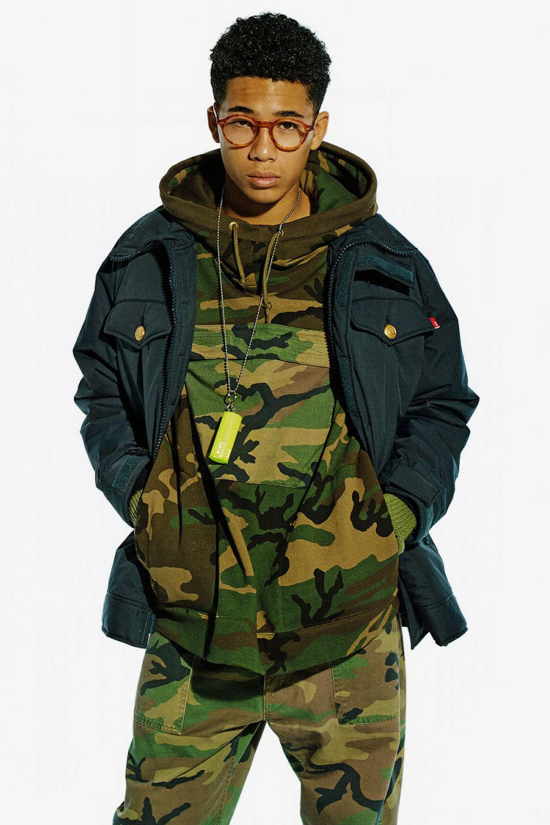 WTAPS 2016 Fall Editorial by 'GRIND' Magazine camo military outwear jackets teddy sweater