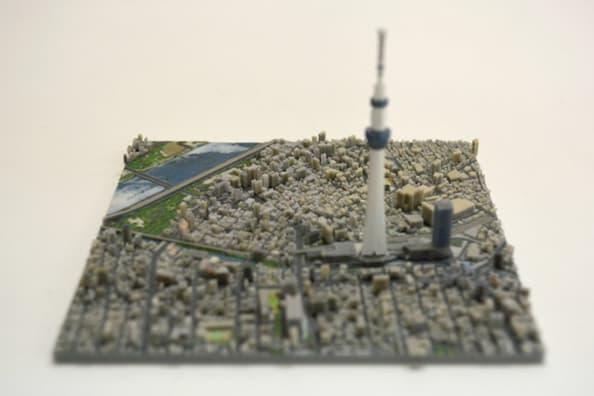 3D Printed Map Tokyo