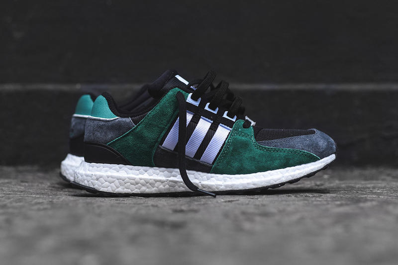 adidas Originals EQT Support 93 16 Black White Sub Green