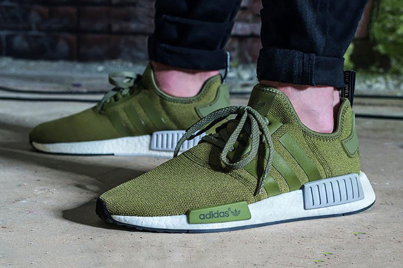 93a8d8c8627 adidas NMD R1 Olive Available in the US 2016 Foot Locker Boost midsole EVA  Plugs adidas