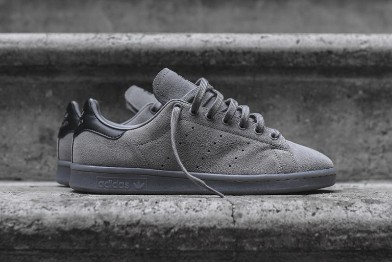d65be5aae51db adidas Covers the Stan Smith in Charcoal Suede