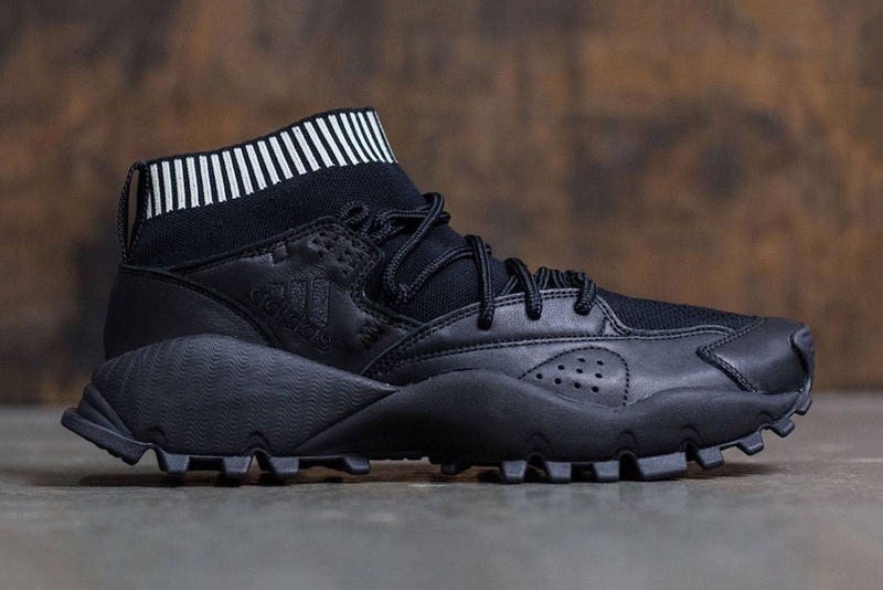 adidas SeeULater Black Primeknit upper Originals hiking Leather White Sock Lining