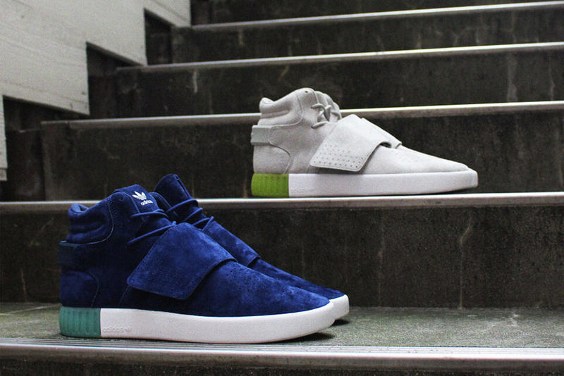 new products c4fae c987f adidas Tubular Invader Straps Exclusive to BILLYs 2016 Fall Blue Teal Off  White Green White Midsole