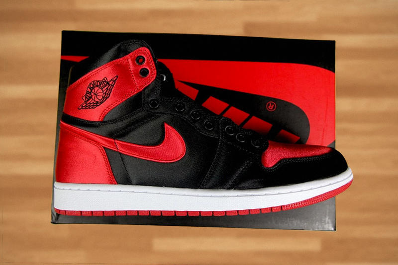 brand new 67a3d ab34b Air Jordan 1 Satin Bred banned red black