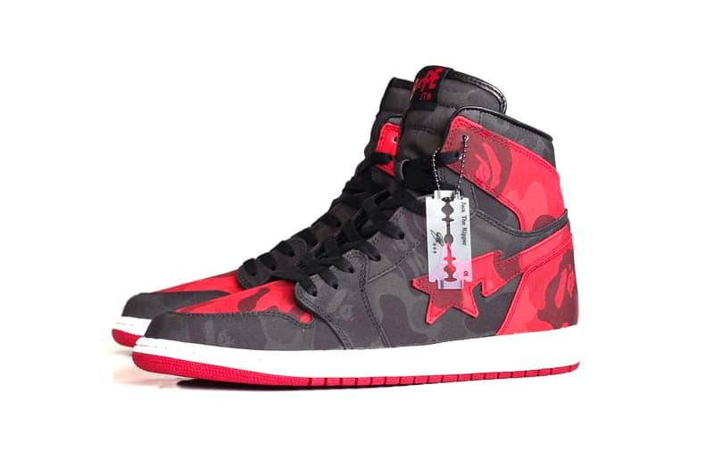 5eebf87162ee Air Jordan 1 BAPE Custom Sneaker